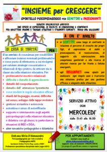 Insieme per Crescere: Sportello psicopedagogico per Genitori ed Insegnanti @ Spazio Pedagogico - 3° Piano | Sesto San Giovanni | Lombardia | Italia
